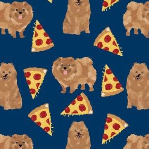 pomeranian pizza fabric cute dogs and pizzas fabric cute design for dog owners pom lovers will adore this pizza fabric