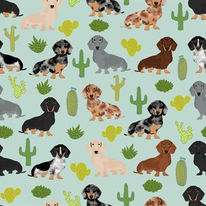 dachshund cactus fabric cute doxie dog design best doxie dogs fabric cute dachshunds