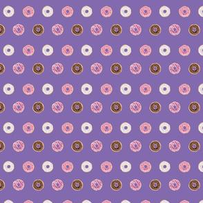 Sweet Donuts on Purple