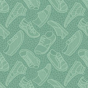Lace up your sneakers - spring aqua