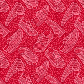 lace up your sneakers - xmas red
