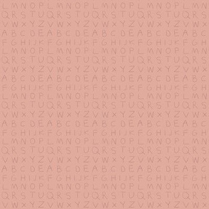 Pencil alphabet - oolong pink