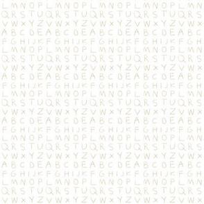 Pencil alphabet - summer brown