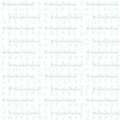 Pencil alphabet - summer green