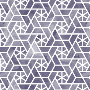 Watercolor lattice - autumn purple