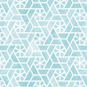 Watercolor lattice - trendy aqua