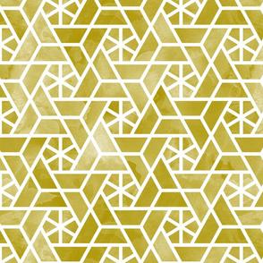 Watercolor lattice - trendy mustard