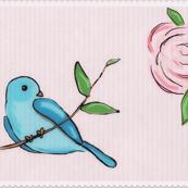 Rose Bird on Branch