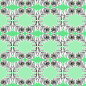 Shades of Green Feather Fabric