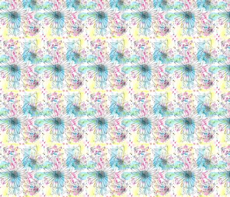 Montauk Daisies on Watercolor fabric by eileenmckenna on Spoonflower - custom fabric