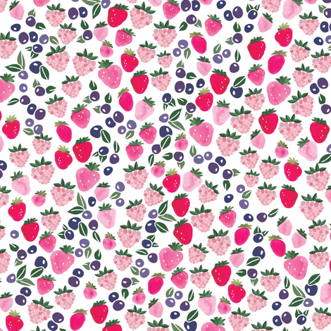 Berry Crazy in purple fabric by thislittlestreet on Spoonflower - custom fabric