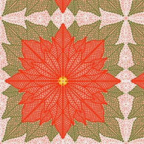 Poinsettia Lace