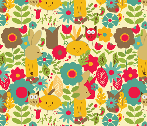 Holiday Flower Party fabric by accidental_rabbit on Spoonflower - custom fabric
