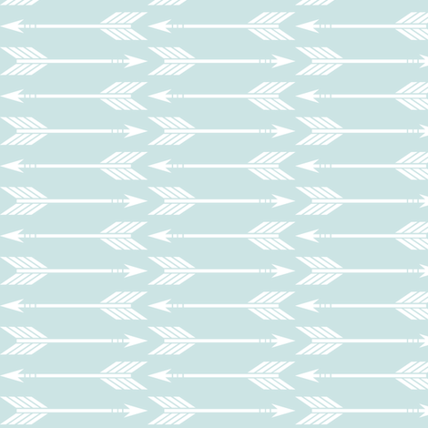 arrows aviary blue || the lilac grove collection fabric by littlearrowdesign on Spoonflower - custom fabric