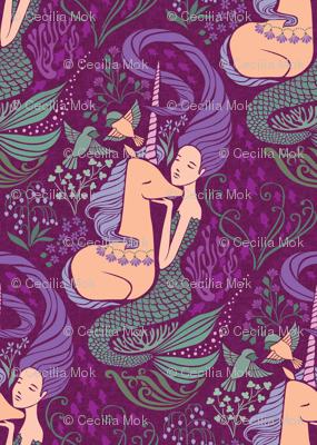 The Mermaid and the Unicorn - Levantine - medium scale