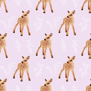 Bambi FAWN II on Pale Lilac