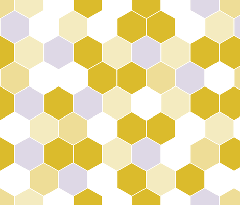 Honeycomb Golden Yellow Mix fabric by thistleandfox on Spoonflower - custom fabric