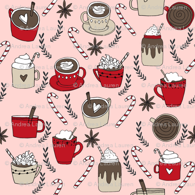 hot chocolate // christmas winter cocoa peppermint latte coffee cocoa hot chocolates cute christmas drinks