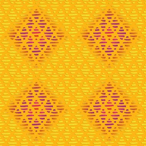 INDIA SUNNY YELLOW  DIAMOND PATTERN