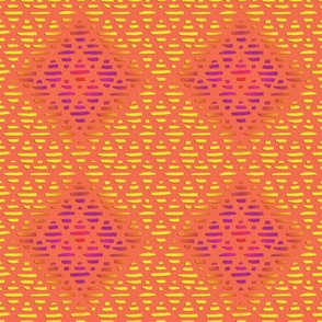 INDIA CORAL ORANGE DIAMOND PATTERN