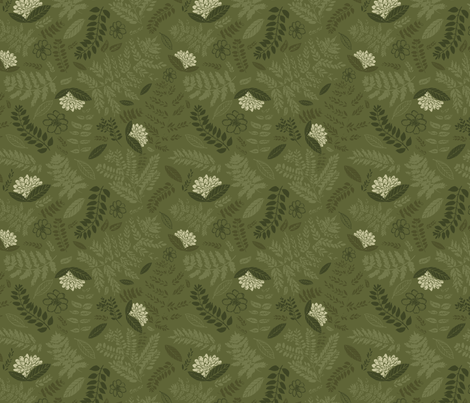 Fern & Floral fabric by katievaz on Spoonflower - custom fabric