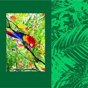 Scarlet Macaw pillowcase (Green)