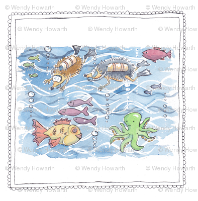 hedgehog scuba diving