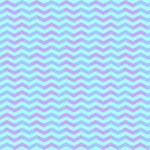 wavy chevron in light blue, aqua and pink