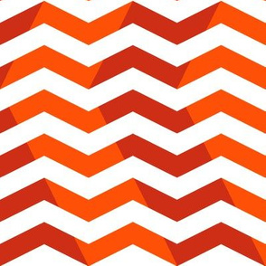 wavy chevron in red and orange