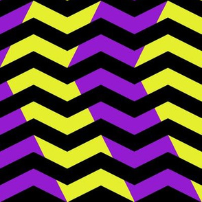 wavy chevron - purple, black and yellow