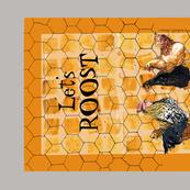 Let's Roost 2017 calendar towel