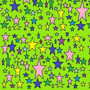 random_stars_on_bright_green_backgfound