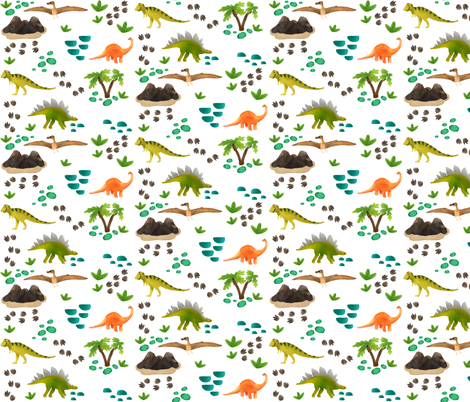 Dinosaurs fabric by ginamayes on Spoonflower - custom fabric