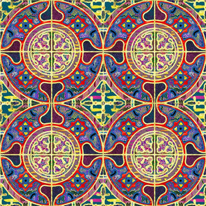 MANDALA TILES CLASSIC NATURAL GOLD