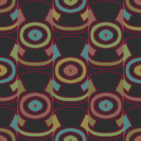 Dark Ikat (Stripes 2) fabric by david_kent_collections on Spoonflower - custom fabric