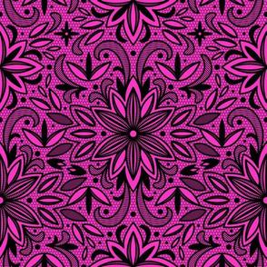 Blackwork Floral (Pink)