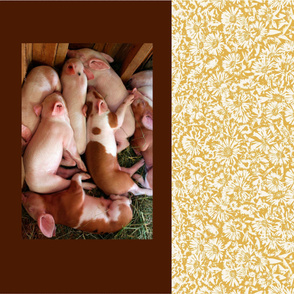 Sleeping Piglets Pillowcase