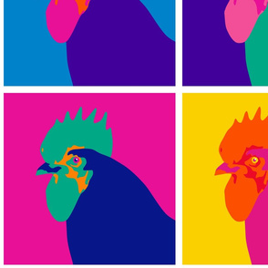 Pop Art Chicken 12 inch Repeat