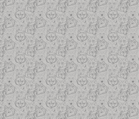 grey_wolves fabric by gothiccolour on Spoonflower - custom fabric