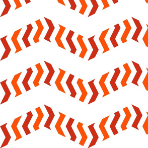 zebra chevron - dot red