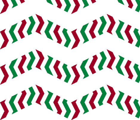 Chevron candy cane fabric by weavingmajor on Spoonflower - custom fabric