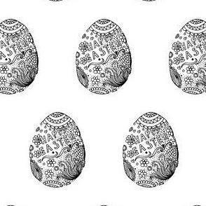 Easter eggs print