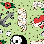 nope and other four letter words - tattoo flash