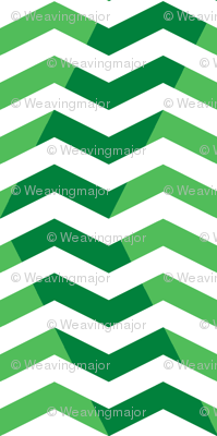 wavy chevron - candy cane green, large