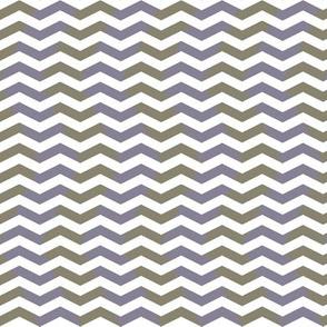 wavy chevron - midsummer lavender grey