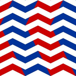 red and blue chevron on white
