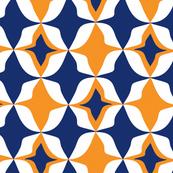 Harlequin Diamond Blue & Orange