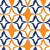 Harlequin Diamond Orange & blue