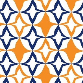 Harlequin Diamond Orange & blue