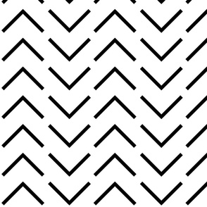 Black and White Broken Chevron